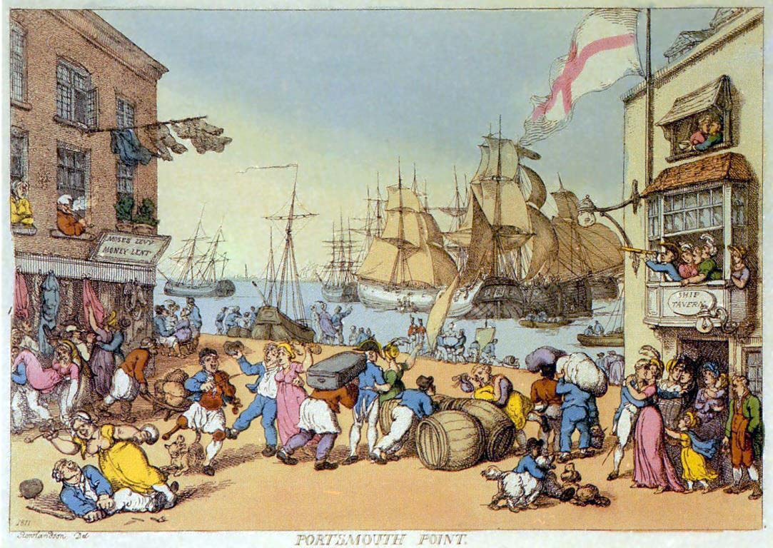 Portsmouth Point by Thomas Rowlandson circa 1800