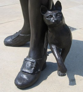 """Trim, the cat, in Donington, Lincolnshire at the feet of his master, Matthew Flinders. 218733"" Photographer Rodney Burton, www.geograph.org.uk"