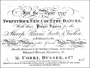 1797 Corri, Dussek & Co.'s Twenty-four New Country Dances for the Year 1797.