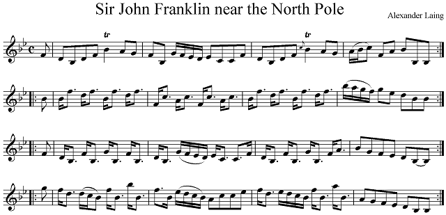 """Sir John Franklin near the North Pole"". Transcribed by Roland Clarke from Alexander Laing's manuscript in the Tasmanian Archives."