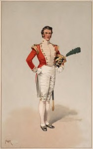 Officer, Light Company, 40th Regiment of Foot, 1826. Historical Records of the 40th (2nd Somerset Regiment. Raymond Smythies, Cpt. R. H. Public Domain.
