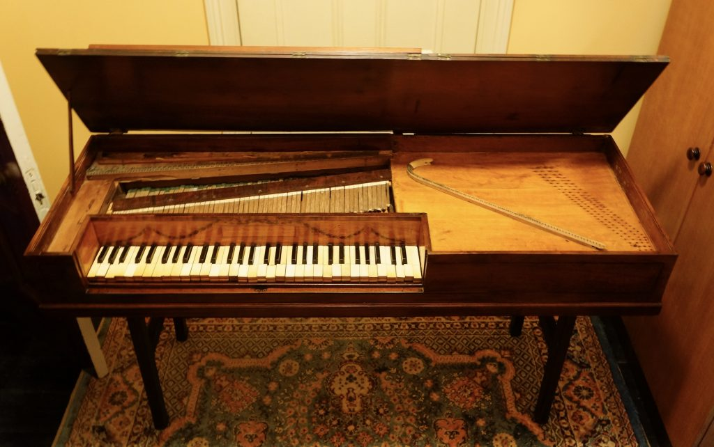 Longman & Broderip square piano. Photo courtesy of Brian Barrow.