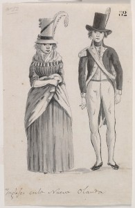 English officer & lady a756004h