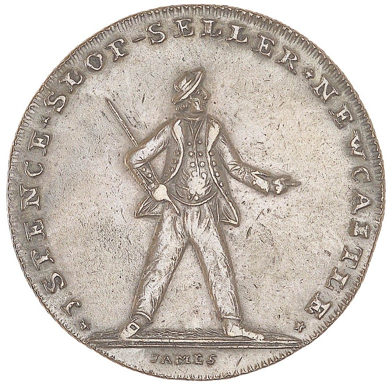 Newcastle Halfpenny Token Commemorating The Battle Of Glorious First June 1794 A