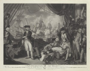 To the Lords Commissioners This print of the Celebrated Victory obtained by the British Fleet under the Command of Earl Howe over the French Fleet on the Glorious First of June 1794