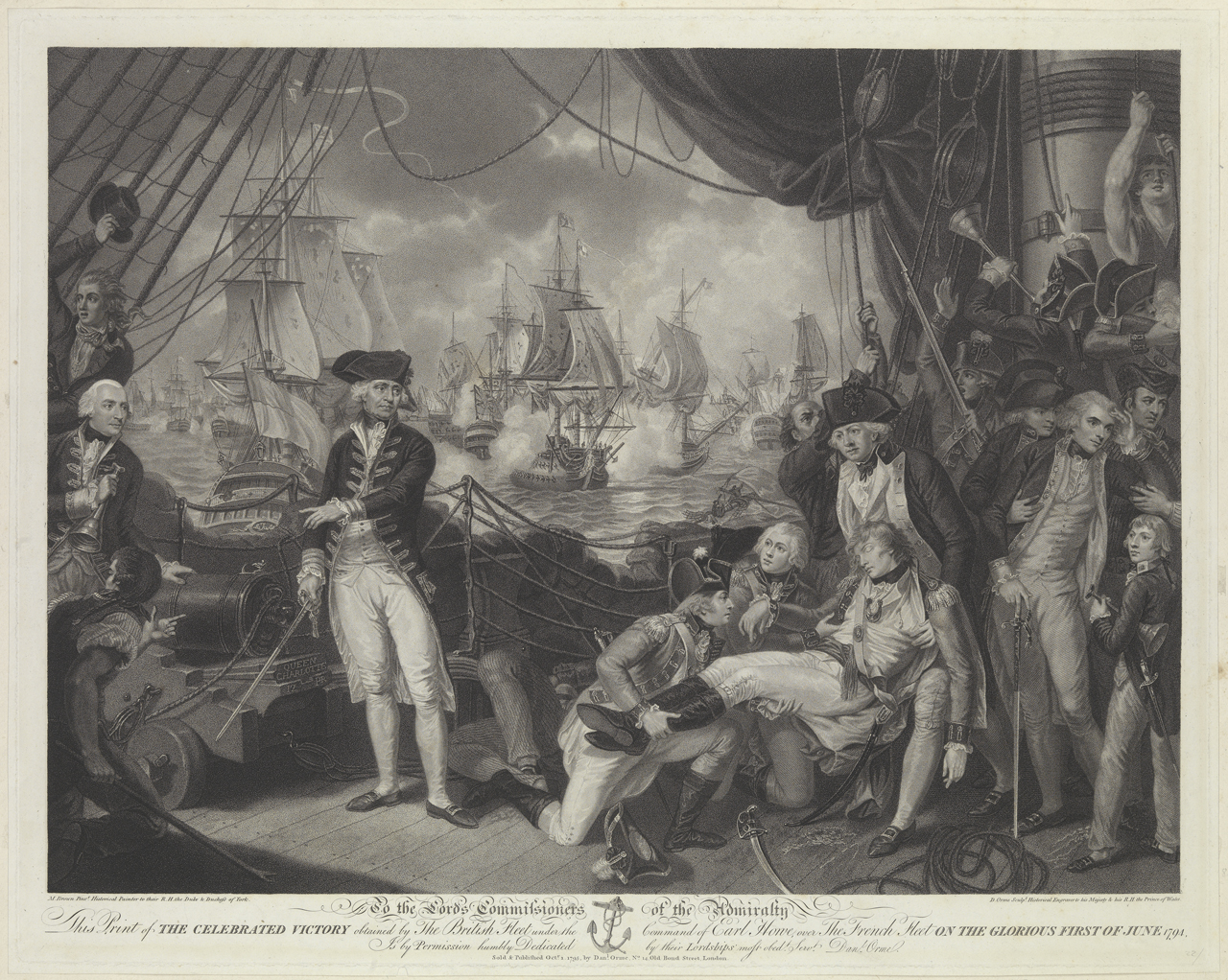 To The Lords Commissioners This Print Of Celebrated Victory Obtained By British Fleet Under