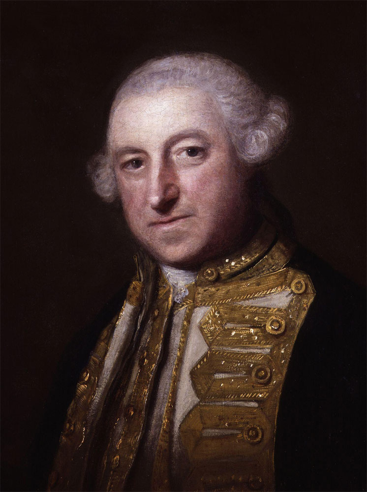 "The Hon. Edward Boscawen (1711-1761). Famed for the statement, ""Never fire, my lads, till you see the whites of the Frenchmen's eyes."" 12https://www.cornwalls.co.uk/history/people/edward_boscawen.htm"