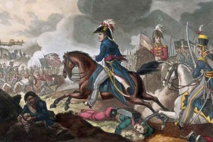 'Battle of Salamanca, 22nd July 1812, Wellington in the midst of the battle' Coloured aquatint by J C Stadler after William Heath, published by Thomas Tegg, 1 April 1818. NAM. 1971-02-33-550-15