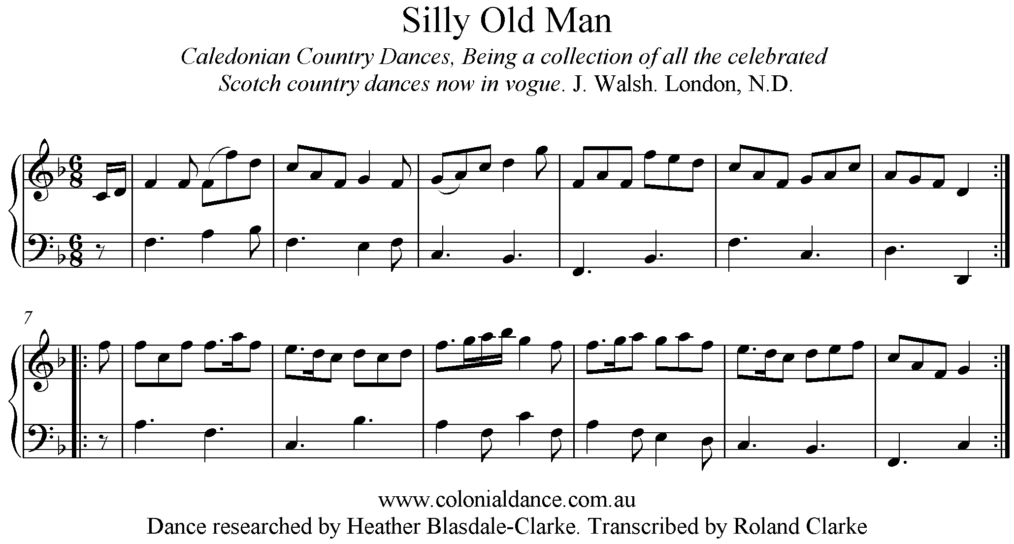 The Silly Old Man   Australian Colonial Dance