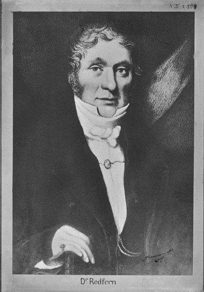 Dr William Redfern painted by George Marshall Maher (1832). Reproduced with permission of Damian Greenish and the State Library of New South Wales. https://search.sl.nsw.gov.au/permalink/f/1ocrdrt/ADLIB110108463
