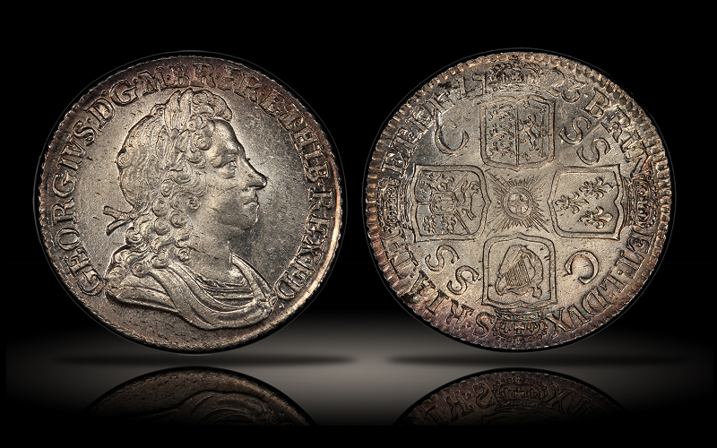 "The silver South Sea shilling. James Cook, as a 16 year old shop boy in Staithes, was reportedly intrigued with such a shilling, and immediately resolved to go to sea. Photo courtesy of <a href=""https://www.cointalk.com/threads/great-britain-silver-south-sea-company-shilling-of-george-i-1723.286642/"">Coin Talk</a>"
