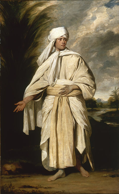 Joshua Reynold's portrait of Omai. https://commons.wikimedia.org/wiki/File:Joshua_Reynolds_-_Portrait_of_Omai.jpg